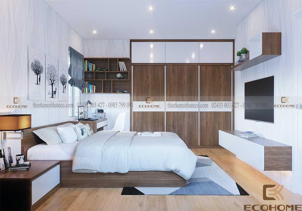 mẫu giường ngủ gỗ công nghiệp ECO19 (2)