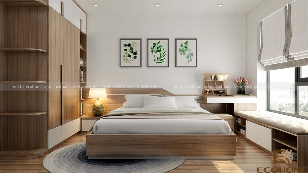 mẫu giường ngủ gỗ công nghiệp ECO21 (1)