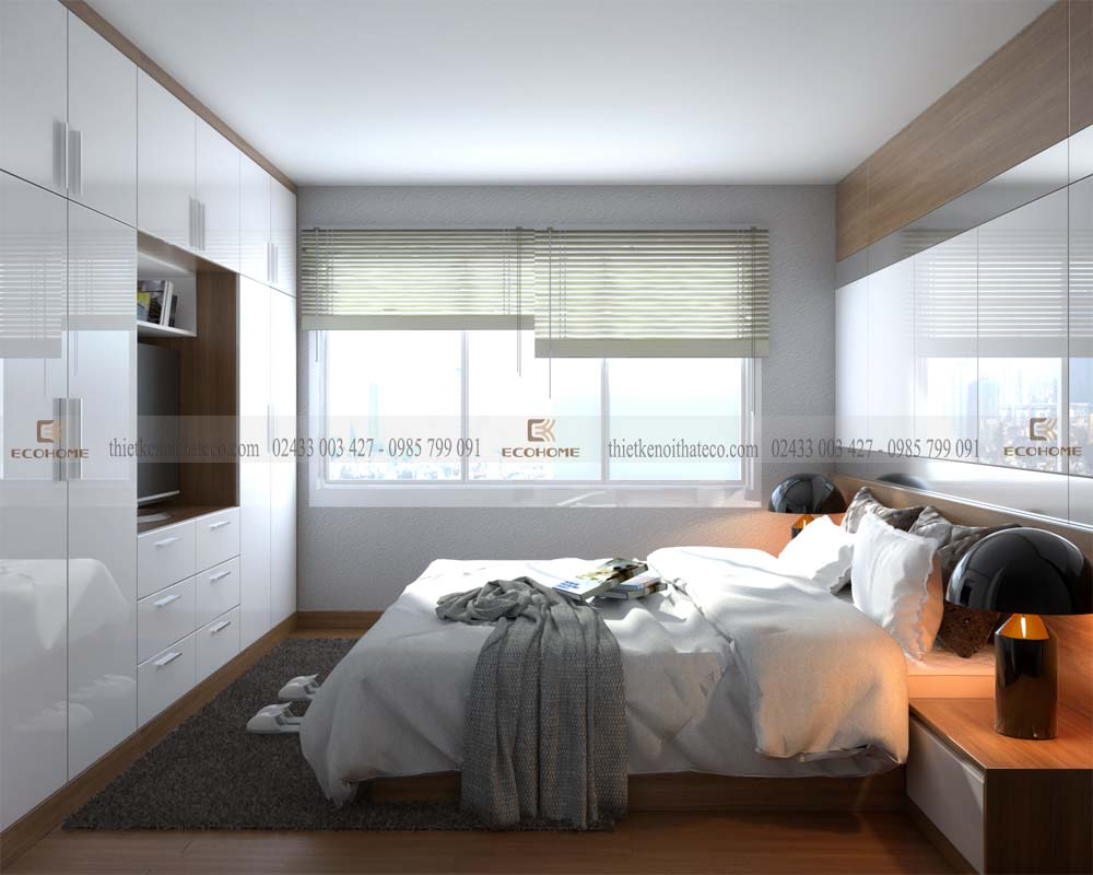 mẫu giường ngủ gỗ công nghiệp ECO22 (2)