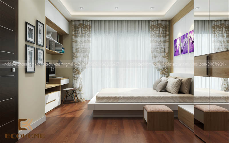 mẫu giường ngủ gỗ công nghiệp ECO30 (2)