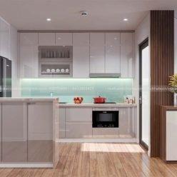 mẫu tủ bếp acrylic ECO48