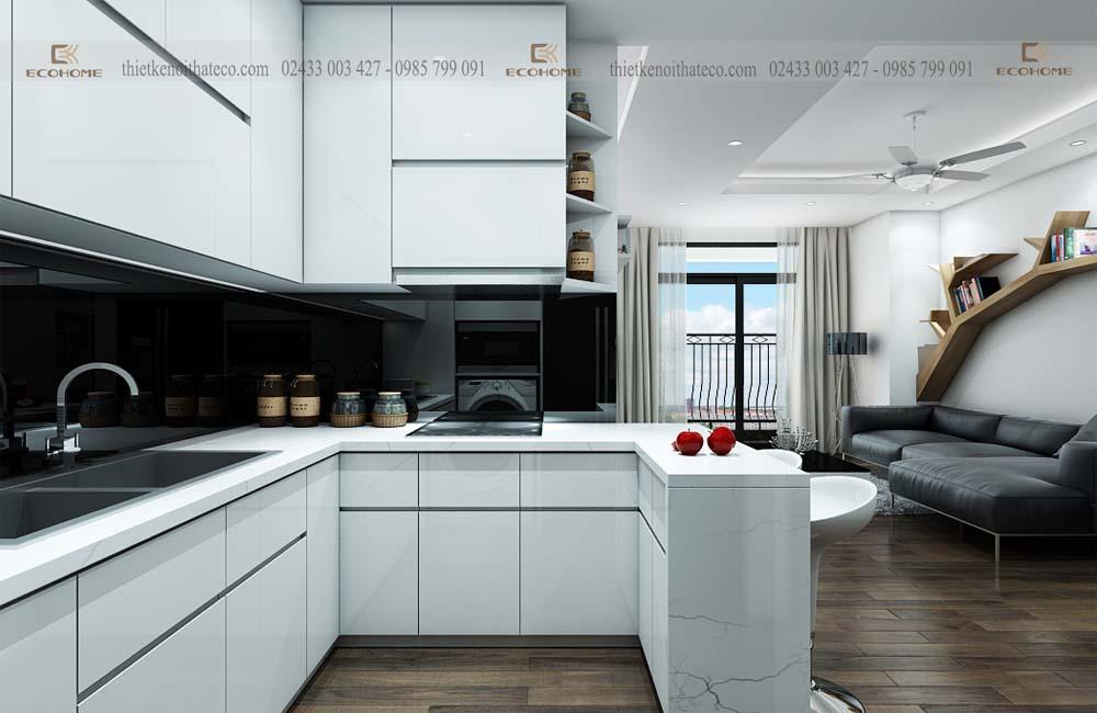 mẫu tủ bếp acrylic ECO53 (2)