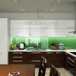 mẫu tủ bếp acrylic chữ L ECO41