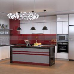 mẫu tủ bếp acrylic gỗ nhựa ECO39