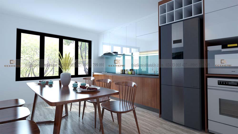 mẫu tủ bếp acrylic gỗ nhựa ECO51 (2)