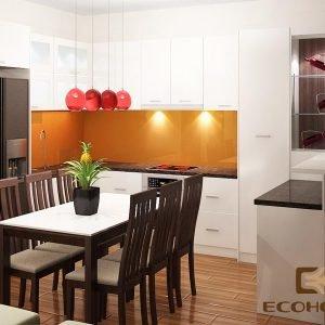 mẫu tủ bếp gỗ công nghiệp ECO45