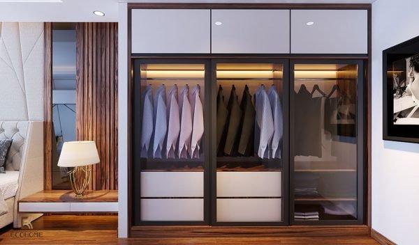 mẫu tủ quần áo gỗ công nghiệp ECO70