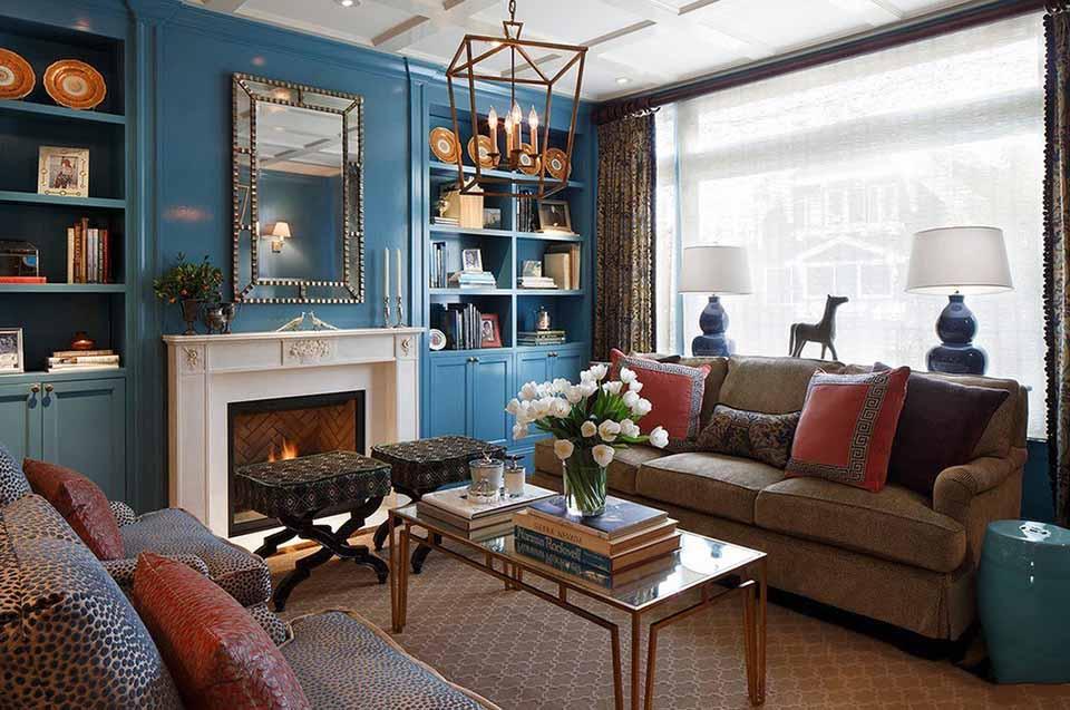 phòng khách màu xanh dương 12
