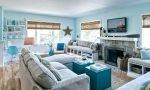phòng khách màu xanh dương 6