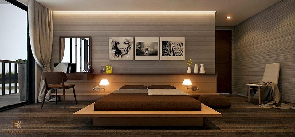 phòng ngủ phong cách tối giản 11