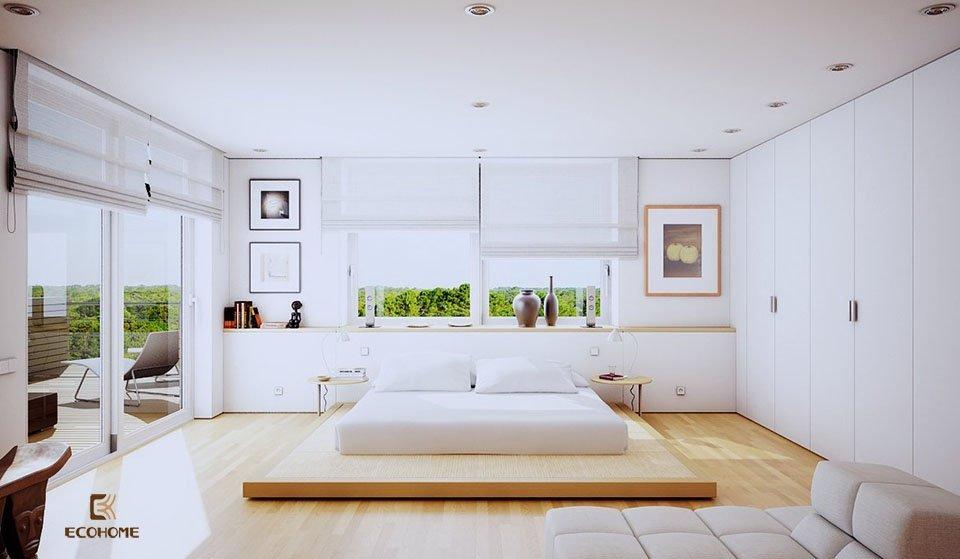 phòng ngủ phong cách tối giản 3