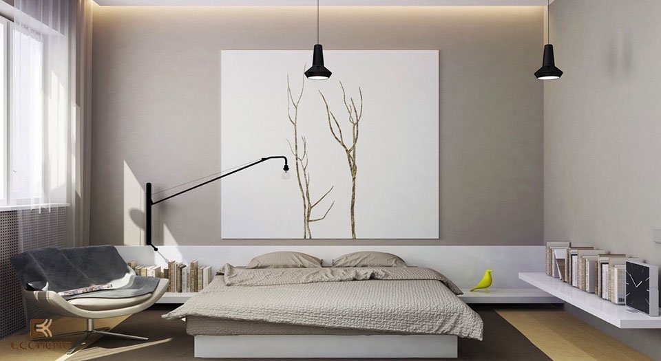 phòng ngủ phong cách tối giản 6