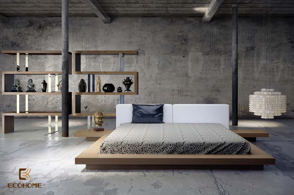 phòng ngủ phong cách tối giản 8