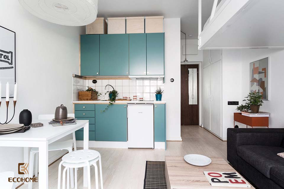 thiết kế nhà bếp nhỏ gọn 26