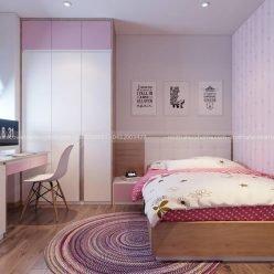 thiết kế nội thất phòng bé gái ECO12