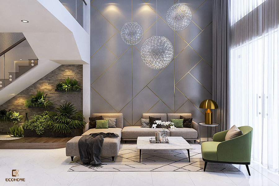 thiết kế nội thất phòng khách 15