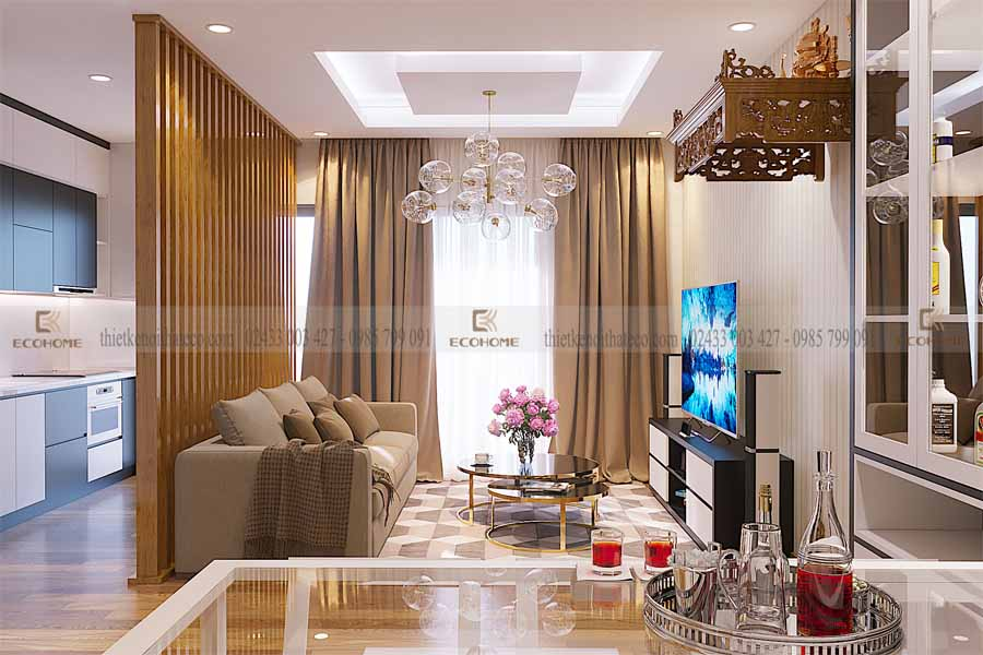 thiết kế nội thất phòng khách 2