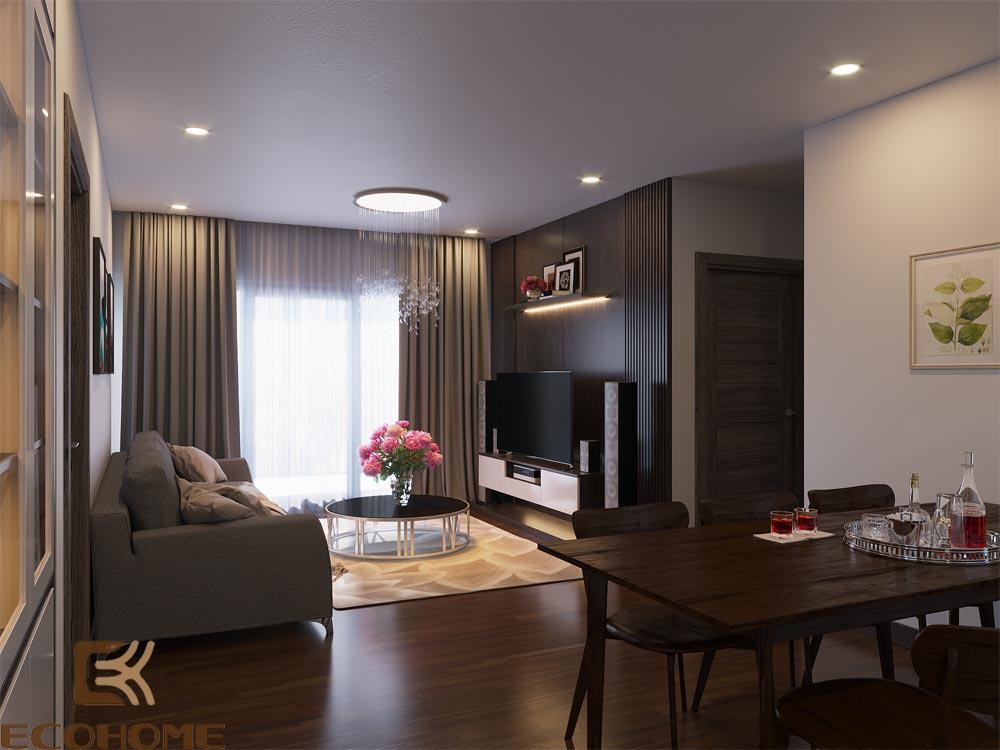 thiết kế nội thất phòng khách 4