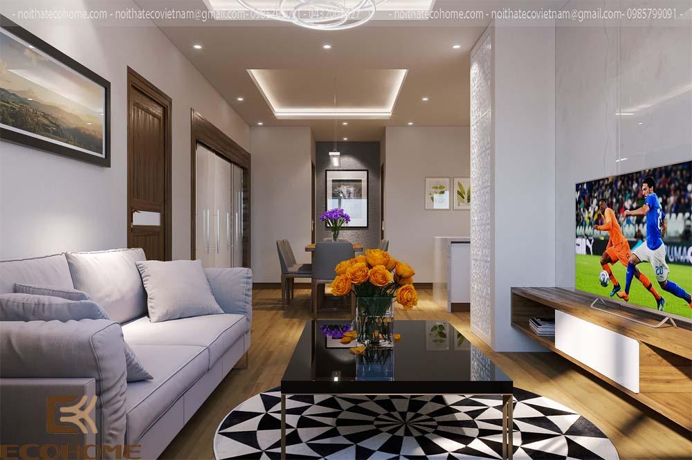 thiết kế nội thất phòng khách 5