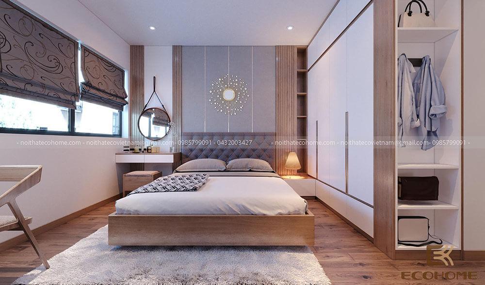 thiết kế bố trí phòng ngủ 16m2 (2)