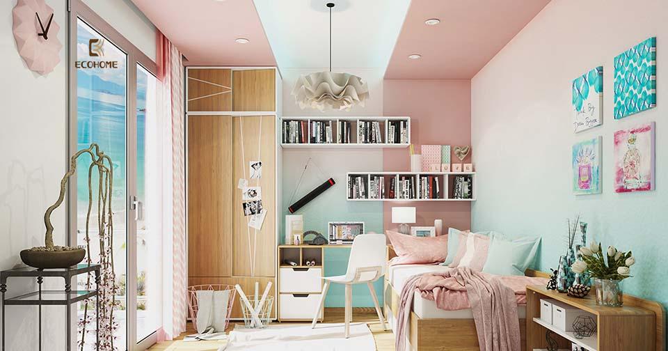 bàn học trong phòng ngủ 24