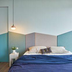 phòng ngủ màu xanh 16