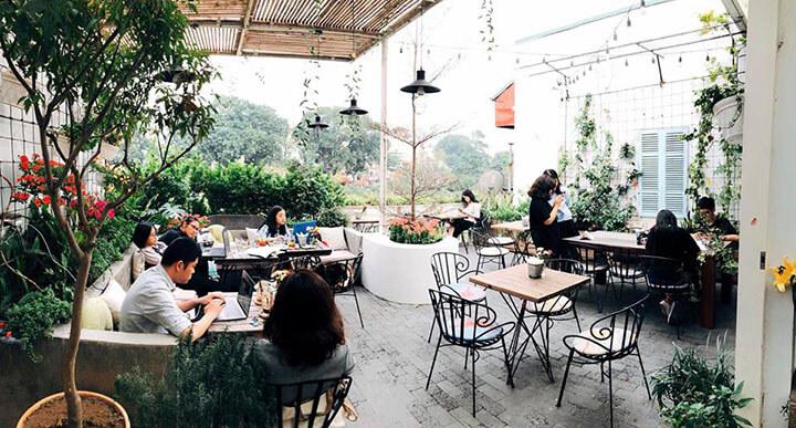 Cup of Tea- Quán cafe ngoài trời đẹp ở Hà Nội (2)