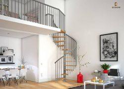 mẫu lan can sắt cầu thang đẹp 4